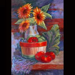 Art: Harvest Bounty by Artist Patricia  Lee Christensen