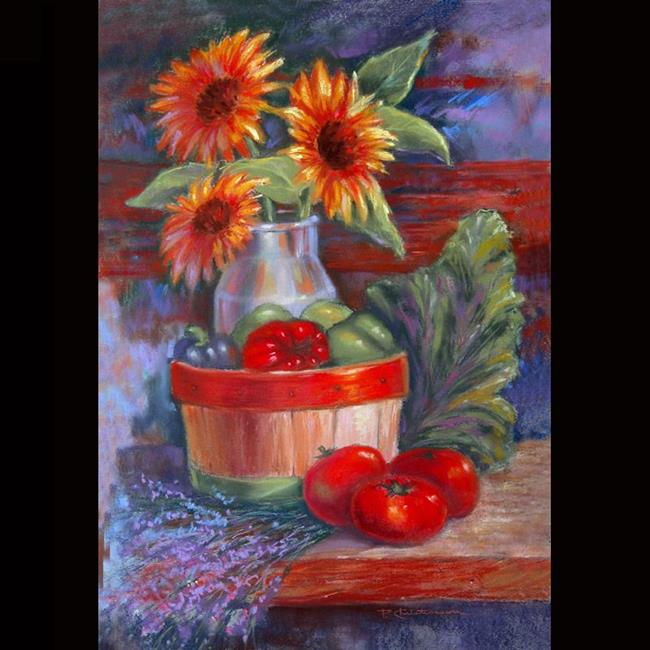 Art:  Summer Vegetables ~ Harvest Bounty by Artist Patricia  Lee Christensen