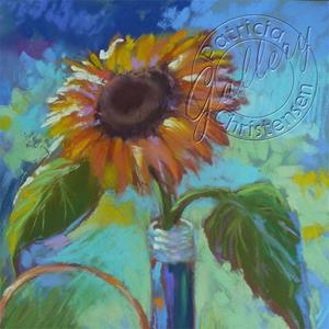 Detail Image for art Sunflower with the Blues