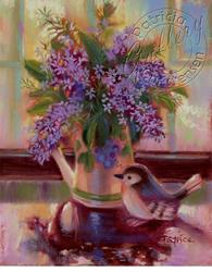 Art: Sunny Lilacs Still Life by Artist Patricia  Lee Christensen