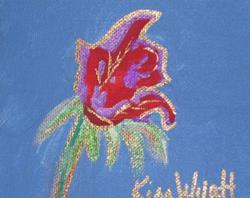 Art: Rose 5 x 5 by Artist Kim Wyatt