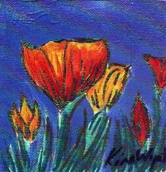 Art: 3x3 Tulips by Artist Kim Wyatt