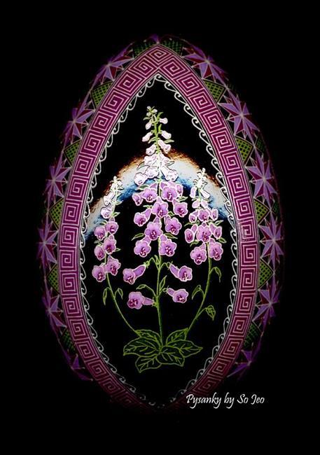 Art: Foxglove (Digitalis pupurea) by Artist So Jeo LeBlond