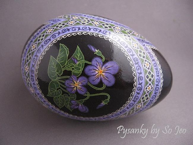 Art: Common Blue Violet (Viola sororia) by Artist So Jeo LeBlond