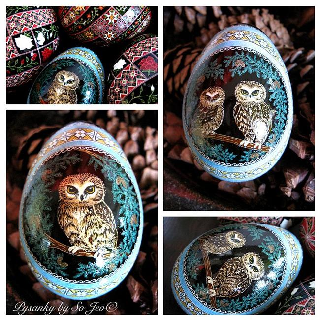 Art: Saw-whet Owls by Artist So Jeo LeBlond