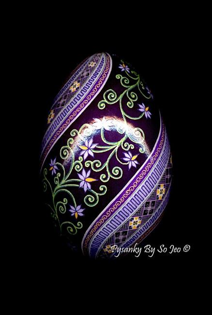 Art: Little Purple Flowers by Artist So Jeo LeBlond