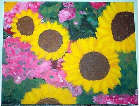 Art: Flowers by Artist Jennifer Lee