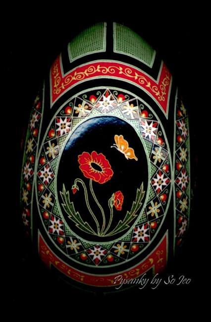 Art: Red Poppies V by Artist So Jeo LeBlond