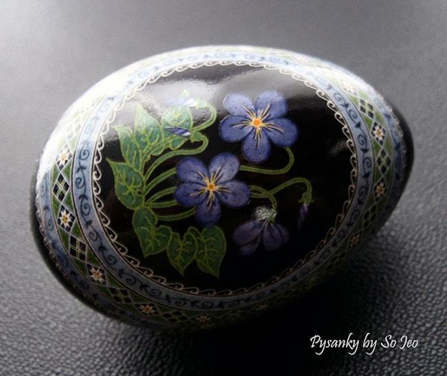 Art: Common Blue Violets by Artist So Jeo LeBlond
