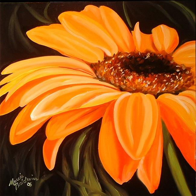 A Gerbera Daisy Yellow By Marcia Baldwin From Florals
