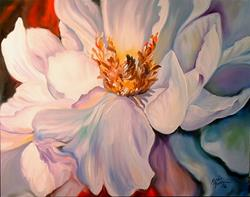 Art: THE WHITE PEONY by Artist Marcia Baldwin