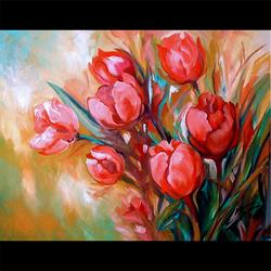 Art: TULIP BOUQUET by Artist Marcia Baldwin