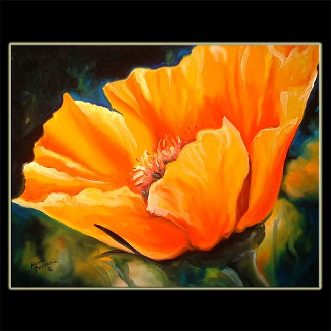 THE CALIFORNIA GOLDEN POPPY 2 - by Marcia Baldwin from Florals
