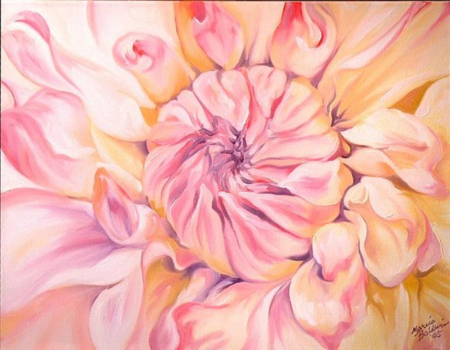 Art: THE PALEST DAHLIA by Artist Marcia Baldwin