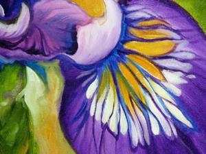 Detail Image for art PURPLE IRIS WILDFLOWER
