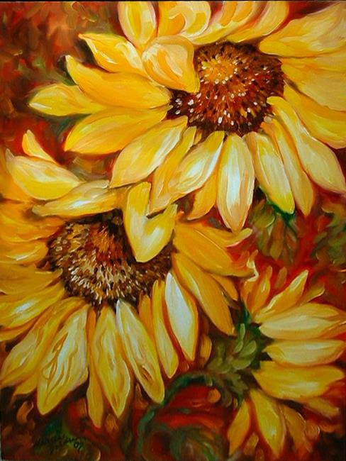 Art: TUSCANY SUNFLOWERS No.2 by Artist Marcia Baldwin