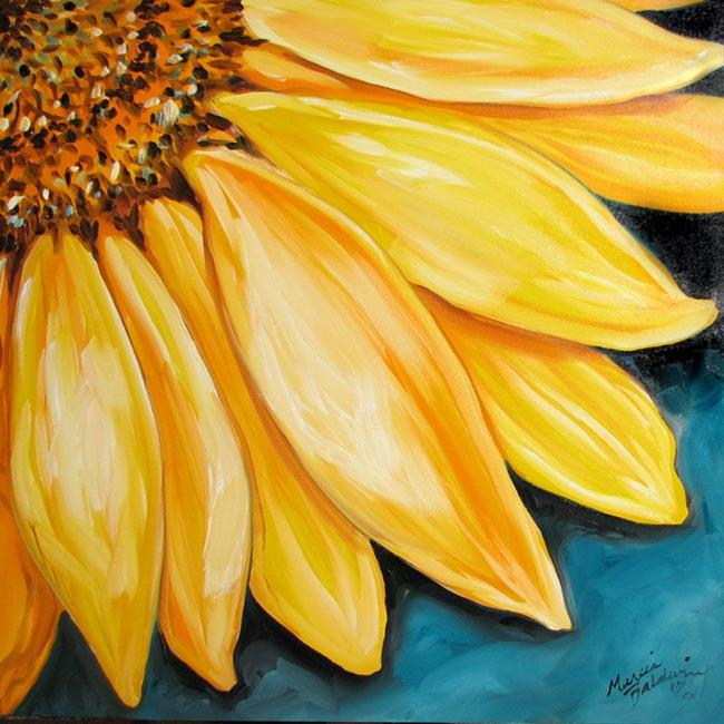 Yellow Sunflower Caring By Marcia Baldwin From Florals