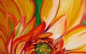 Detail Image for art ORANGE DAHLIA
