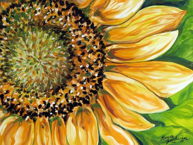 Art: SUNFLOWER STARBURST by Artist Marcia Baldwin