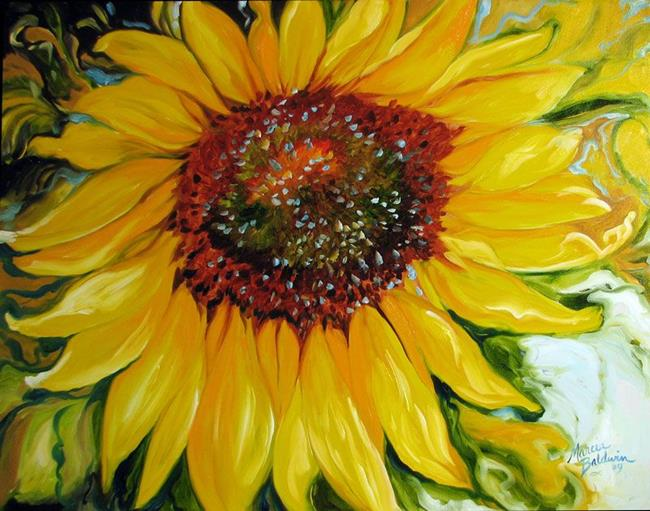 Art: SUNDOWN SUNFLOWER by Artist Marcia Baldwin
