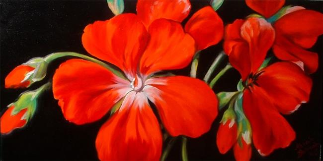 Art: Red Geranium No.8 by Artist Marcia Baldwin