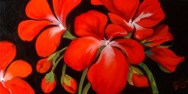 Art: Red Geranium No.9 by Artist Marcia Baldwin