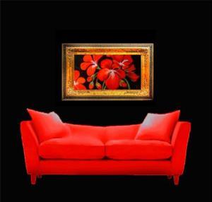 Detail Image for art Red Geranium No.9