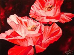 Art: GLOWING POPPIES by Artist Marcia Baldwin