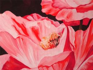 Detail Image for art GLOWING POPPIES