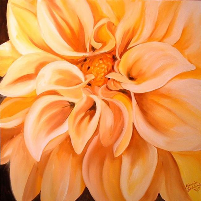 Art: DAHLIA SWEET DAHLIA by Artist Marcia Baldwin