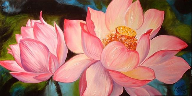 Art: GLOWING LOTUS by Artist Marcia Baldwin