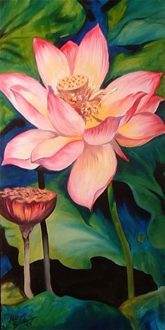 Art: GLOWING LOTUS 2 by Artist Marcia Baldwin