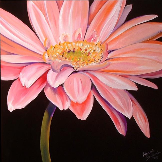 Art: PINK GERBERA by Artist Marcia Baldwin