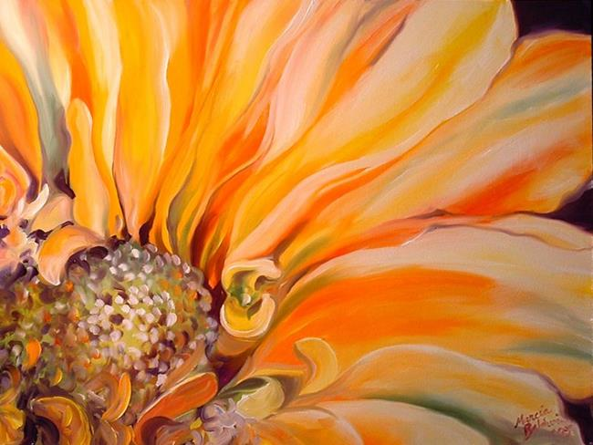 Art: A YELLOW DAISY by Artist Marcia Baldwin