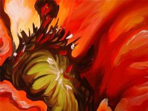 Detail Image for art FIRE POPPY