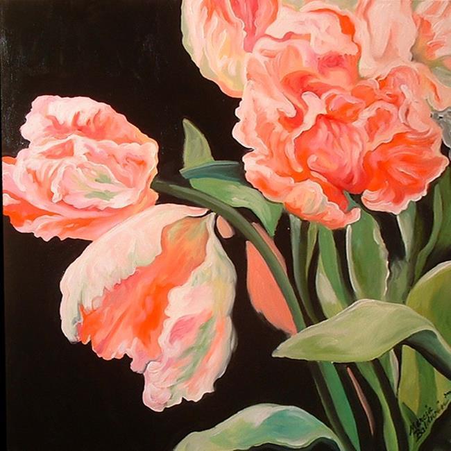 Art: Parrot Tulips by Artist Marcia Baldwin
