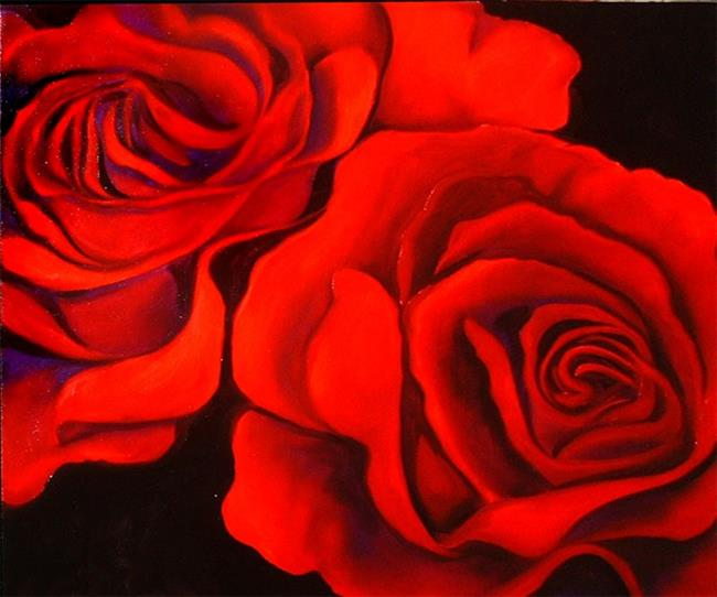 Art: Roses Are Red by Artist Marcia Baldwin