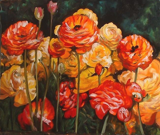 Art: The Flower Patch by Artist Marcia Baldwin