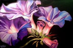 Art: Morning Glory Blossoms by Artist Marcia Baldwin
