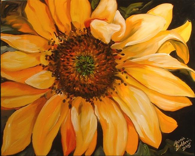 Art: Sunflower Sunset by Artist Marcia Baldwin