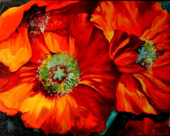 Art: Poppy Ring of Fire by Artist Marcia Baldwin