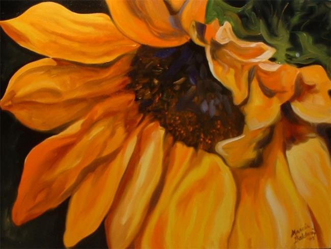 Art: Sunflower 50 by Artist Marcia Baldwin