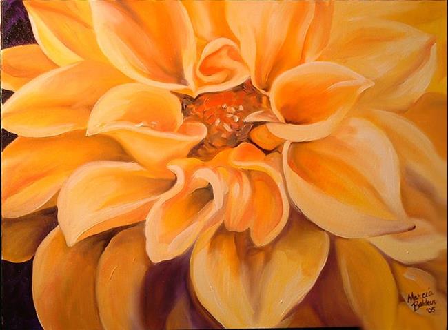 Art: Yellow Dahlia Starburst by Artist Marcia Baldwin