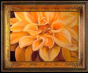 Detail Image for art Yellow Dahlia Starburst