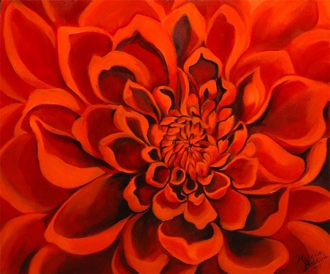 Art: Dahlia n'Red by Artist Marcia Baldwin
