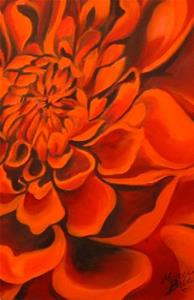 Detail Image for art Dahlia n'Red