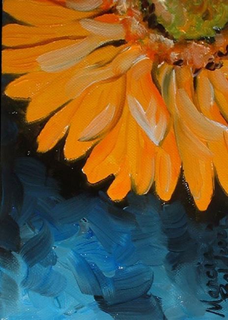 Art: Mini Gerber Yellow by Artist Marcia Baldwin