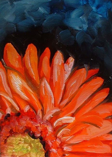 Art: Mini Gerber Orange by Artist Marcia Baldwin
