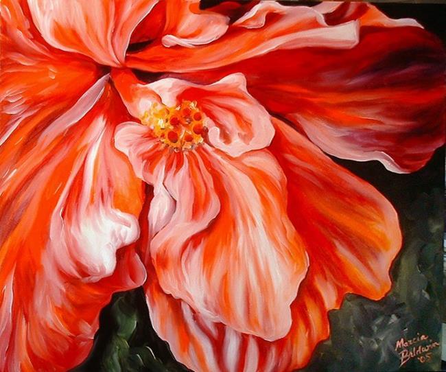 Art: HIBISCUS RED by Artist Marcia Baldwin