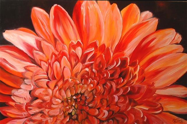 Art: A GERBER DAISY SUNRISE by Artist Marcia Baldwin
